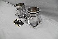 Dodge Viper Aluminum Throttle Bodies BEFORE Chrome-Like Metal Polishing and Buffing Services / Restoration Services