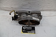 Ford Mustang Cobra Aluminum Throttle Body BEFORE Chrome-Like Metal Polishing and Buffing Services / Restoration Services