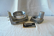 Aluminum Throttle Body for V8 Engine BEFORE Chrome-Like Metal Polishing - Aluminum Polishing
