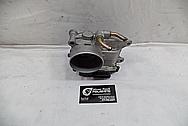 Mitsubishi Lancer EVO X Aluminum Throttle Body BEFORE Chrome-Like Metal Polishing - Aluminum Polishing Service