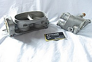 2007 Ford GT500 Aluminum Throttle Body BEFORE Chrome-Like Metal Polishing and Buffing Services