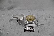 1957 Chevrolet Corvette Rochester Fuel Injection System Aluminum Throttle Body BEFORE Chrome-Like Metal Polishing - Aluminum Polishing Services