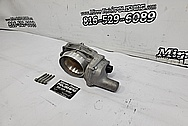 GM LS3 Throttle Body BEFORE Chrome-Like Metal Polishing and Buffing Services - Aluminum Polishing - Throttle Body Polishing
