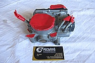 2007 Honda Civic SI Aluminum Throttle Body BEFORE Chrome-Like Metal Polishing and Buffing Services