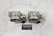 Aluminum Twin Throttle Bodies BEFORE Chrome-Like Metal Polishing - Aluminum Polishing - Throttle Body Polishing