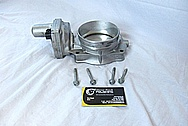 2005 Chevrolet Corvette V8 Aluminum Throttle Body BEFORE Chrome-Like Metal Polishing and Buffing Services