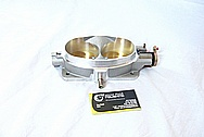 Dodge Viper Aluminum Throttle Body BEFORE Chrome-Like Metal Polishing and Buffing Services