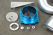 Toyota Supra 2JZ-GTE Aluminum Veilside Throttle Body BEFORE Chrome-Like Metal Polishing and Buffing Services