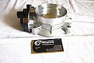 2010 Chevrolet Corvette ZR-1 Aluminum Throttle Body BEFORE Chrome-Like Metal Polishing and Buffing Services
