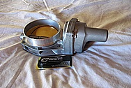 2012 Chevy LS3 Aluminum Throttle Body BEFORE Chrome-Like Metal Polishing and Buffing Services