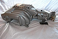 Ford Mustang 5.0L Aluminum Throttle Body BEFORE Chrome-Like Metal Polishing and Buffing Services / Restoration Services