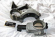 2000 CHEVY Corvette Aluminum Throttle Body BEFORE Chrome-Like Metal Polishing and Buffing Services / Restoration Services