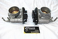 Nissan GTR Aluminum Throttle Body BEFORE Chrome-Like Metal Polishing and Buffing Services / Restoration Services