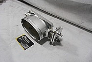 Dragon Oval Aluminum Throttle Body BEFORE Chrome-Like Metal Polishing and Buffing Services / Restoration Services