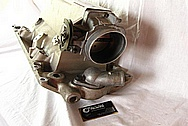Hogans Intake Aluminum Throttle Body BEFORE Chrome-Like Metal Polishing and Buffing Services / Restoration Services