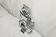 Truck Aluminum Timing Cover AFTER Chrome-Like Metal Polishing and Buffing Services - Aluminum Polishing