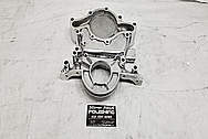 Aluminum Timing Cover AFTER Chrome-Like Metal Polishing and Buffing Services - Aluminum Polishing