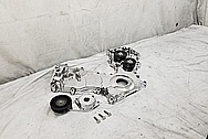 Ford Mustang Cobra DOHC Aluminum Timing Cover AFTER Chrome-Like Metal Polishing and Buffing Services - Aluminum Polishing