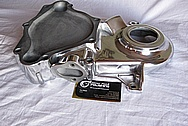 Mopar Small Block Aluminum Timing Cover AFTER Chrome-Like Metal Polishing and Buffing Services