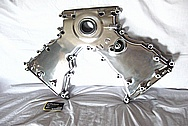 Ford Mustang Cobra V8 DOHC Aluminum Timing Cover AFTER Chrome-Like Metal Polishing and Buffing Services