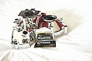 Mazda RX7 Aluminum Timing Cover AFTER Chrome-Like Metal Polishing and Buffing Services
