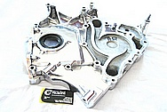 Dodge Hemi 6.1L Engine Aluminum Timing Cover AFTER Chrome-Like Metal Polishing and Buffing Services