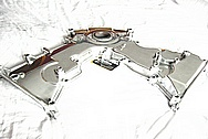 Ford Mustang Cobra DOHC Engine Aluminum Timing Cover AFTER Chrome-Like Metal Polishing and Buffing Services