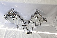Ford Mustang 4.6l 3V Engine Aluminum Timing Cover AFTER Chrome-Like Metal Polishing and Buffing Services