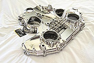 Nissan 350Z Aluminum Engine Timing Cover AFTER Chrome-Like Metal Polishing and Buffing Services