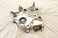 Dodge Challenger 6.1L Aluminum Engine Timing Cover AFTER Chrome-Like Metal Polishing and Buffing Services