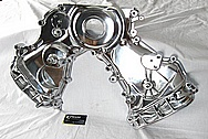 1950 Led Sled Mercury Aluminum Timing Cover AFTER Chrome-Like Metal Polishing and Buffing Services / Restoration Services