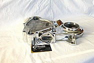 Mopar Performance 340 Engine Aluminum Timing Cover AFTER Chrome-Like Metal Polishing and Buffing Services / Restoration Services
