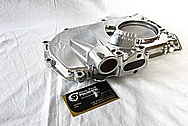 V8 Engine Aluminum Timing Cover AFTER Chrome-Like Metal Polishing and Buffing Services / Restoration Services