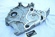 Dodge Hemi 6.1L Engine Aluminum Timing Cover BEFORE Chrome-Like Metal Polishing and Buffing Services