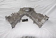 Ford Mustang 4.6l 3V Engine Aluminum Timing Cover BEFORE Chrome-Like Metal Polishing and Buffing Services