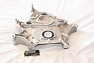 Dodge Challenger 6.1L Aluminum Engine Timing Cover BEFORE Chrome-Like Metal Polishing and Buffing Services