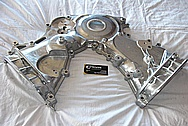 1950 Led Sled Mercury Aluminum Timing Cover BEFORE Chrome-Like Metal Polishing and Buffing Services / Restoration Services