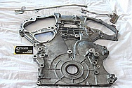 Nissan GTR Aluminum Timing Cover BEFORE Chrome-Like Metal Polishing and Buffing Services / Restoration Services