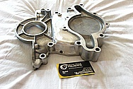 V8 Engine Aluminum Timing Cover BEFORE Chrome-Like Metal Polishing and Buffing Services / Restoration Services