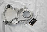 Aluminum V8 Engine Timing Cover BEFORE Chrome-Like Metal Polishing and Buffing Services / Restoration Services