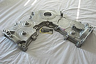 Ford Mustang Cobra Aluminum Timing Belt Cover BEFORE Chrome-Like Metal Polishing and Buffing Services
