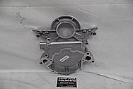 Ford 302 V8 Engine Aluminum Timing Cover BEFORE Chrome-Like Metal Polishing and Buffing Services - Aluminum Polishing