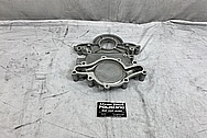 Aluminum Timing Cover BEFORE Chrome-Like Metal Polishing and Buffing Services - Aluminum Polishing