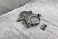 Aluminum Timing Cover BEFORE Chrome-Like Metal Polishing and Buffing Services - Aluminum Polishing