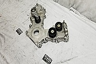 Ford Mustang Cobra DOHC Aluminum Timing Cover BEFORE Chrome-Like Metal Polishing and Buffing Services - Aluminum Polishing