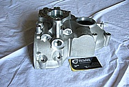 Mazda RX7 Aluminum Timing Cover BEFORE Chrome-Like Metal Polishing and Buffing Services