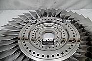 Titanium Aircraft Blades and Hub AFTER Chrome-Like Metal Polishing - Titanium Polishing Services - Aircraft Polishing Services