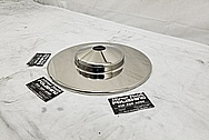 Titanium Machined Production Piece AFTER Chrome-Like Metal Polishing and Buffing Services - Aluminum Polishing Services