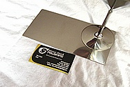 Titanium Metal Martini Glass AFTER Chrome-Like Metal Polishing and Buffing Services