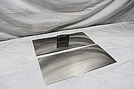 Titanium Sheet Metal Pieces AFTER Chrome-Like Metal Polishing and Buffing Services / Restoration Services